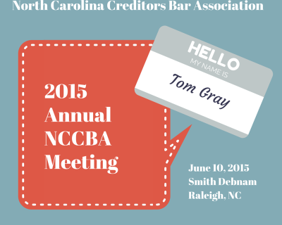 NC Creditors' Rights Attorneys Unite!