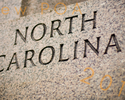 2018 Brings Changes to North Carolina's Power of Attorney Act