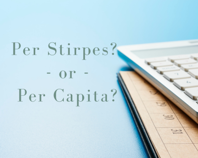 Understanding the Difference Between a 'Per Stirpes' and 'Per Capita' Distribution