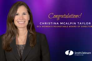 Creditors' Rights Attorney Christina McAlpin Taylor Appointed to Serve on ECU Women's Roundtable Board of Directors